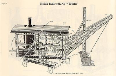 The Clic Period Erector Steam Shovel - Girders & Gears