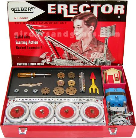 1958 No 10052 Rocket Launcher Erector Set Girders Gears